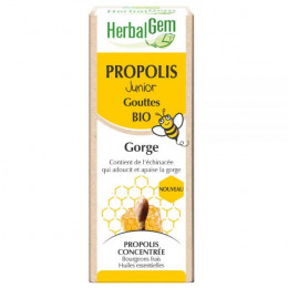 Propolis Bio Junior à large spectre - Gorge - Gouttes 15 ml