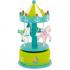 Carrousel musical décoratif - Chevaux - Vert