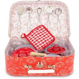 Batterie de cuisine en valisette - 11 pièces - à partir de 6 ans