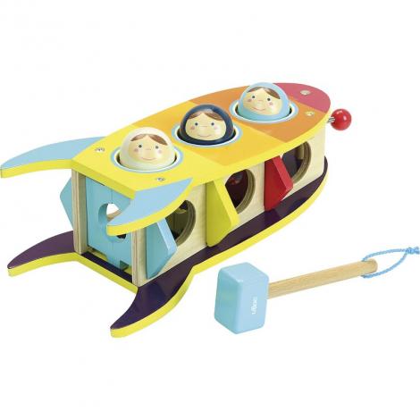 3,2,1 décollage ! - jouet à marteler - à partir de 18 mois