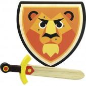 Epée et bouclier en bois - Lion - à partir de 4 ans