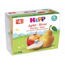 Pomme poire Bio Dès 4 mois  4 x 100 g