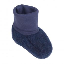 Chaussons en polaire de laine - Bleu foncé