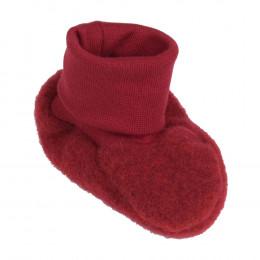 Chaussons en polaire de laine - Cassis