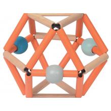 Hochet Grabber en bois - Orange et bleu - dès la naissance