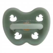 Tétine orthodontique en caoutchouc - Canards - Moss green