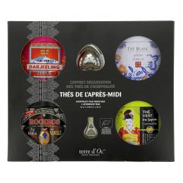Coffret cadeau dégustation - Thés de l'après-midi - 4 boîtes en métal