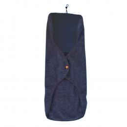 Enveloppe pour siège auto en polaire de laine - Bleu foncé