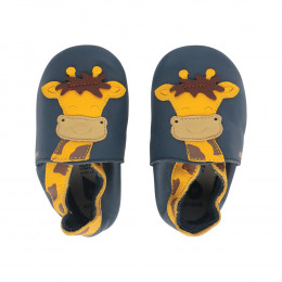 Chaussons - 06001G - Girafe Navy - grandes tailles