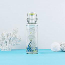 Bouteille en verre 600 ml  - Fond de mers