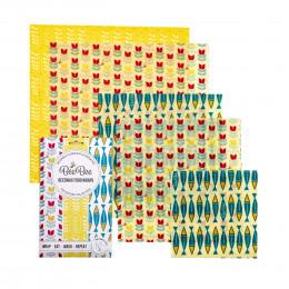 Emballages alimentaires à la cire d'abeille - Family pack