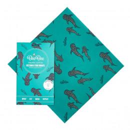 Emballage alimentaire à la cire d'abeille - Large - Baleine