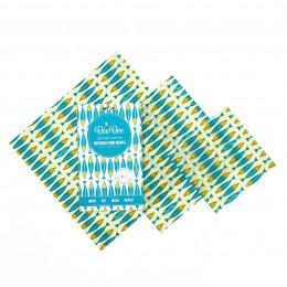 Emballages alimentaires à la cire d'abeille - Trio pack - Sardines