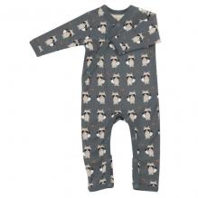 Pyjama combi coton BIO avec pieds Raton laveur Teal
