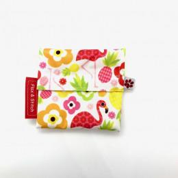 Mini pochette - Flowers & Flamingos