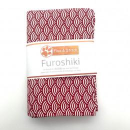 Furoshiki 75 x 75 cm - Vagues Rouge