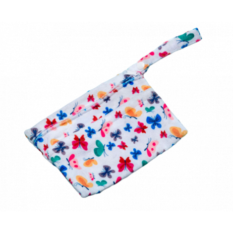 Sac pochette imperméable doubles poches - mini - Papillons