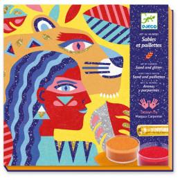 Atelier sables colorés - Animal totem