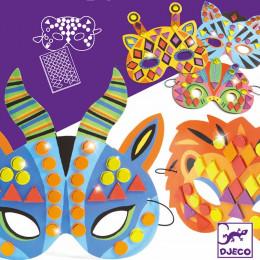 Masques mosaïques - Animaux de la jungle