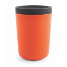Gobelet en bambou avec couvercle - 350 ml - Orange
