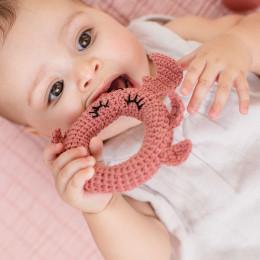 Hochet tricot - crabe - dès la naissance