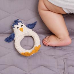 Hochet tricot - pingouin - dès la naissance