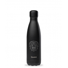 Bouteille nomade isotherme All Black Animal Tattoo - 500 ml - Lion