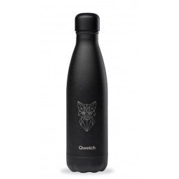 Bouteille nomade isotherme All Black Animal Tattoo - 500 ml - Renard