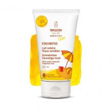 Lait solaire Peaux sensibles SPF 30 Edelweiss 150 ml