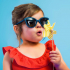 Lunettes de soleil enfant Sun Buzz - 4 à 6 ans - Bleu denim