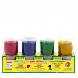 Pâte à modeler - 4 couleurs - à partir de 3 ans