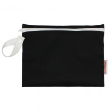 Pochette pour serviettes hygièniques - coton BIO - Noir