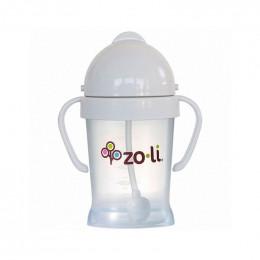 Gobelet avec paille  Sans BPA ni phtalate - Gris pâle - 180 ml