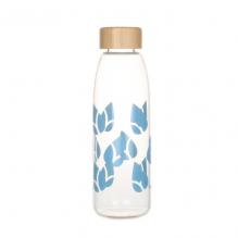 Bouteille imprimée en verre - 550 ml - bleu