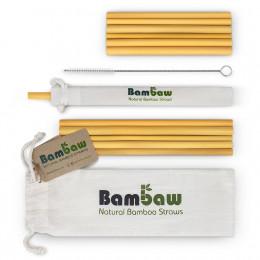 Pailles en bambou 14 et 22 cm - Lot de 12