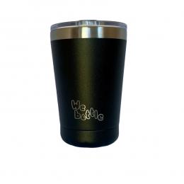 Gobelet Isotherme en Inox avec couvercle - Noir - 310 ml