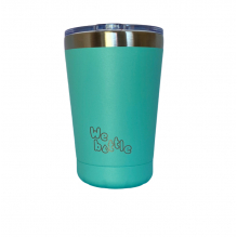 Gobelet Isotherme en Inox avec couvercle - Turquoise  - 350 ml
