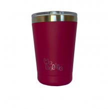 Gobelet Isotherme en Inox avec couvercle - Rose Foncé - 350 ml