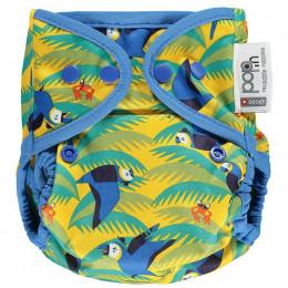 Culotte de protection pour couches lavables - Taille unique pression - Perroquets