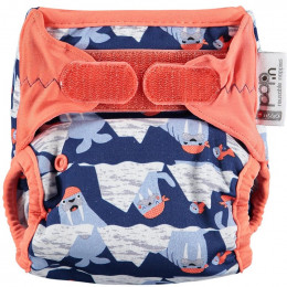 Culotte de protection pour couches lavables - Taille unique velcros - Morses