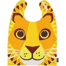 Grande serviette - bavoir - coton organique - motif lion