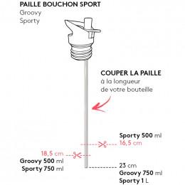 10 pailles de remplacement pour bouchon sport Gaspajoe