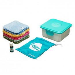 Mini kit lingettes - coton organique Zéro Twist Premium- arc-en-ciel - Lavande