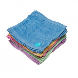 Kit TE1 lingettes lavables - bambou éponge Terry - Arc en ciel pastel - Mandarine