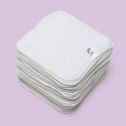 Mini kit lingettes - coton Zéro Twist - Blanc - Lavande