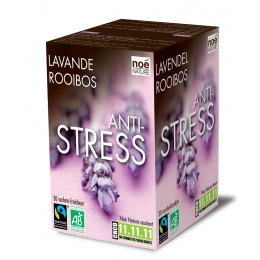 Infusion bio-équitable : ANTI-STRESS LAVANDE / ROOIBOS