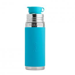 Gourde bouteille en inox - modèle sport - 260 ml - Turquoise