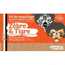 Kit de maquillage Bio 3 couleurs - Zèbre et tigre - à partir de 3 ans