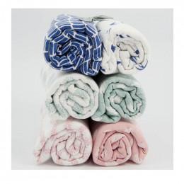 Langes d'emmaillotage en coton - Hirondelles bleues - Lot de 2