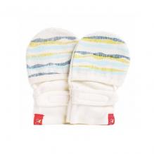 Moufles réversibles anti-griffures - 0-3 mois - lignes bleues et vertes